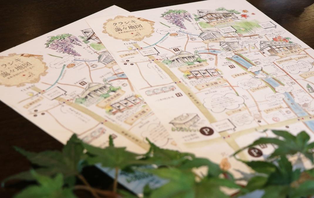 倉敷美観地区を楽しむイラスト観光マップ